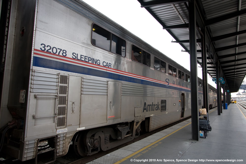 Amtrak sleeping car at Seattle King Street Station