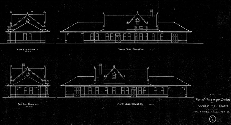 Sandpoint Depot Architectural Drawings